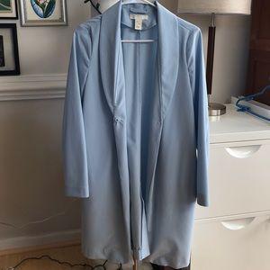 sky blue long jacket